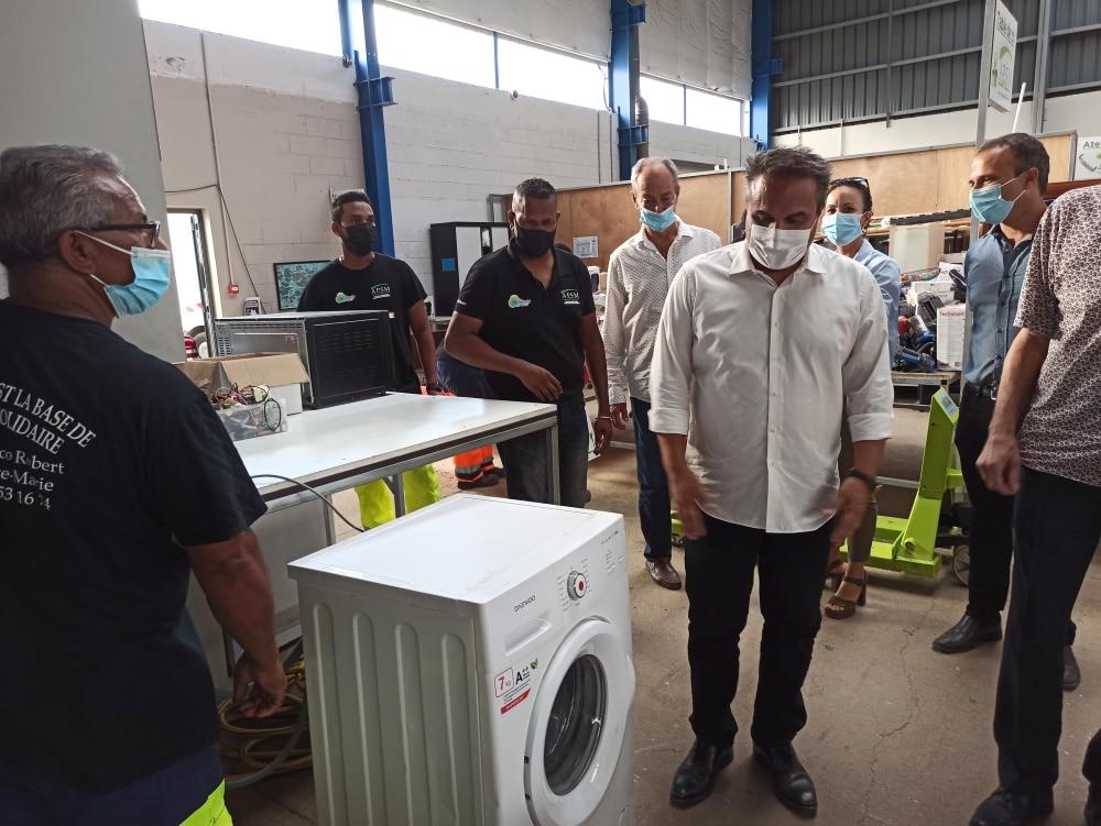 Visite Didier Robert APSM Ressourcerie